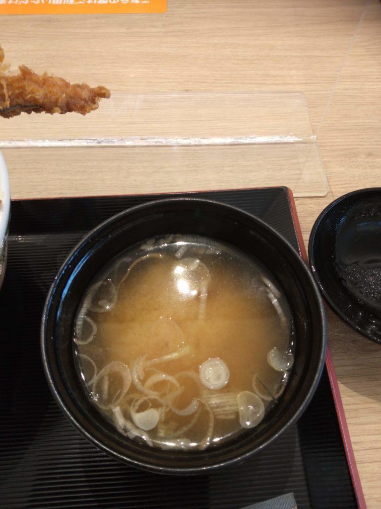 日本橋天丼 金子半之助 味噌椀