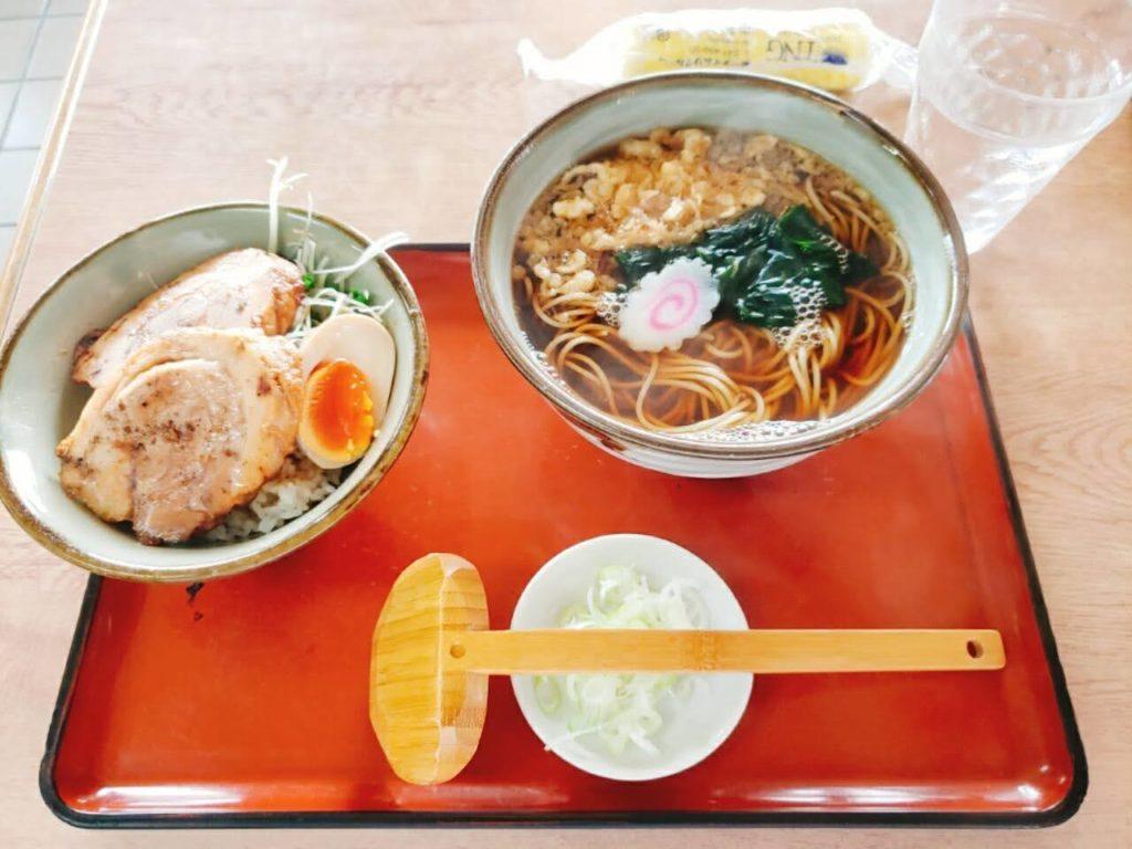 松よし 蕎麦 チャーシュー丼