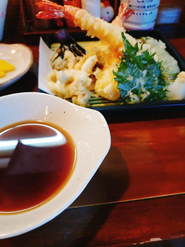 がらく 天ぷら定食